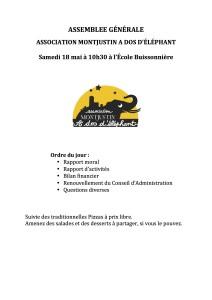 ASSEMBLEE GÉNÉRALE invitationMADE2019